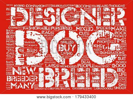 Designer Dog Rage Is It Safe Word Cloud Concept Text Background