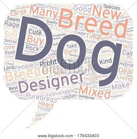 Designer Dog Rage Is It Safe text background wordcloud concept