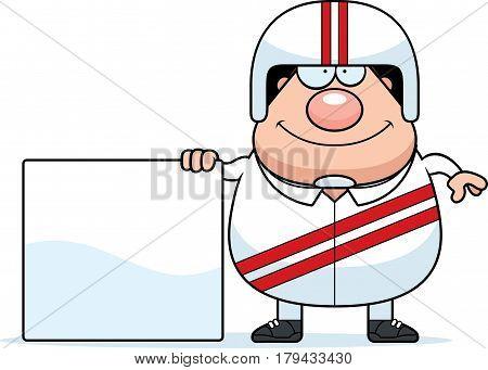 Cartoon Stuntman Sign