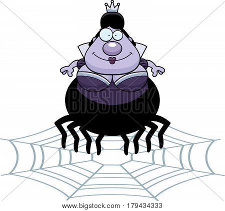 Cartoon Spider Queen Web