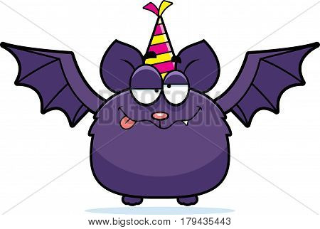Cartoon Bat Drunk Party