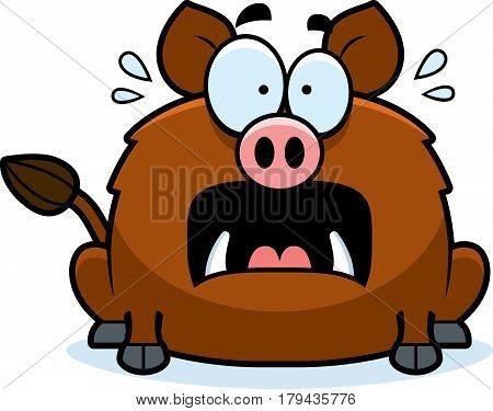 Scared Little Boar
