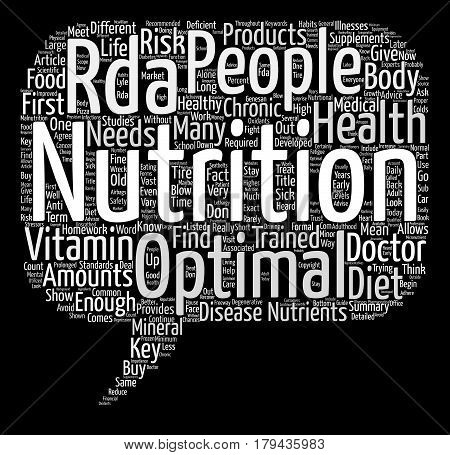 Do we get enough nutrients from our diets Word Cloud Concept Text Background