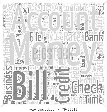 Easy Ways To Organize Your Business Finances Word Cloud Concept Text Background