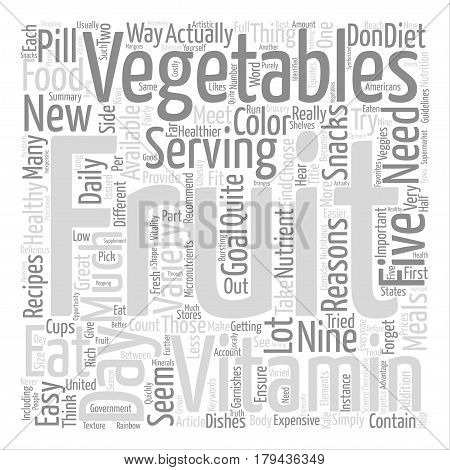 Eat a variety of veggies for a healthier you text background word cloud concept