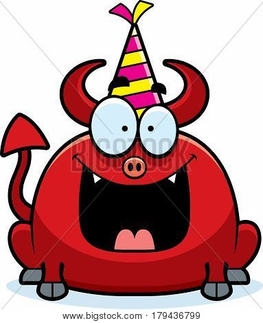 Cartoon Devil Birthday Party