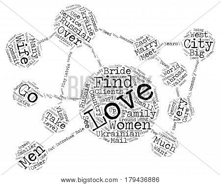 Find a Russian Wife Ukrainian Wife Russian Bride or Ukrainian Bride text background word cloud concept