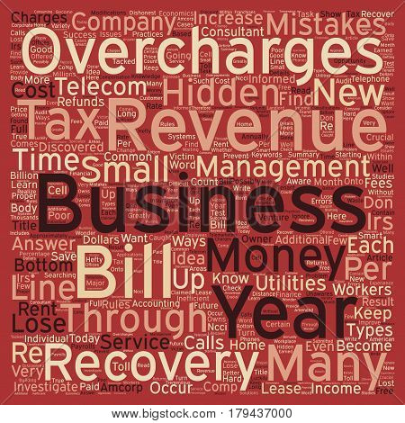Find Hidden Money for Your Business Through Revenue Recovery text background wordcloud concept