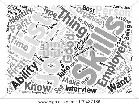 JH identify your skillset Word Cloud Concept Text Background