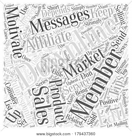motivate your downline members with autoresponders Word Cloud Concept