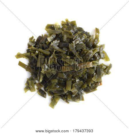 Dark Green Seaweed Salad Top View