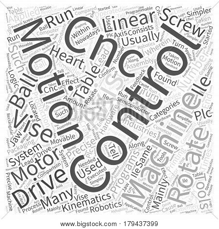Motion Control The Heart of CNC Word Cloud Concept