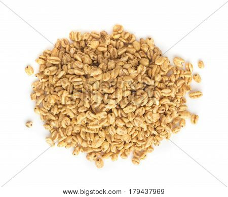 Heap Of Puffed Wheat Snack Isolated