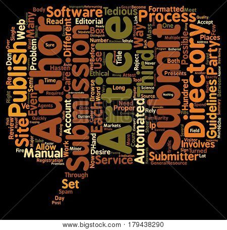 The Right Way to Mass Submit your Article text background wordcloud concept