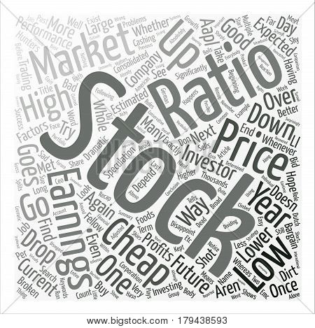 The Search For Cheap Stocks Word Cloud Concept Text Background