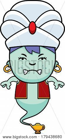 Angry Cartoon Little Genie