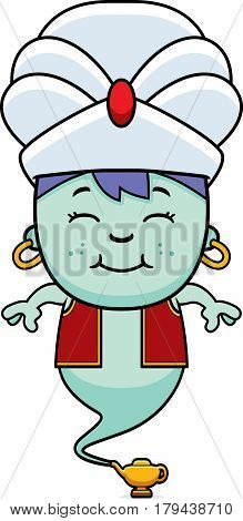 Smiling Cartoon Little Genie