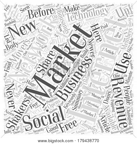 The Shakers and Movers of Internet Marketing for Word Cloud Concept