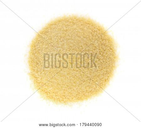 Heap Of Dry Small Gelatine Granules Or Powder