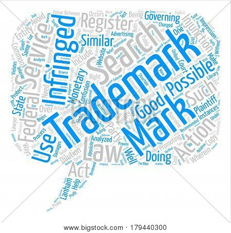 trademark infringement text background word cloud concept
