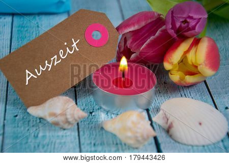 Auszeit - german for timeout -  written on paper tag