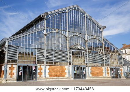 Paris, France - March 27, 2017: Building Of Covered Market In Niort Was Built In 1871, France