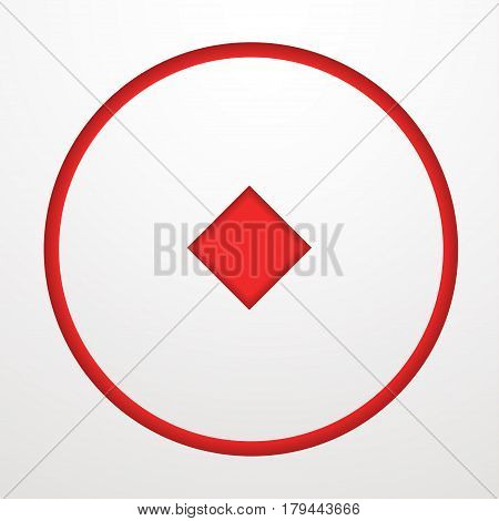 Card suit Vector illustration Stencil with card suits of diamonds on white background Card games Paper art