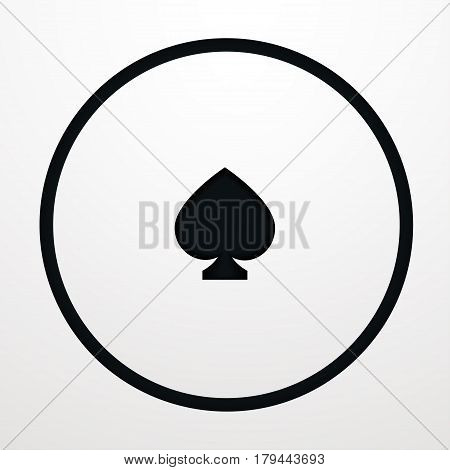 Card suit Vector illustration Stencil with card suits of spades on white background Card games Paper art