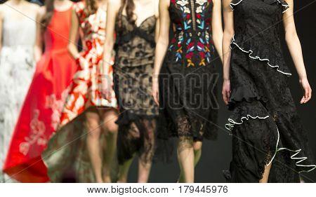 Fashion Show Runway Beautiful Models