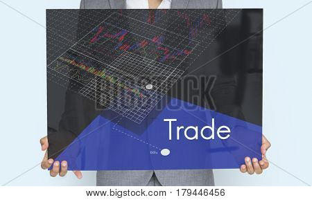 Stock Exchange Market Forex Trade Global Business Graph