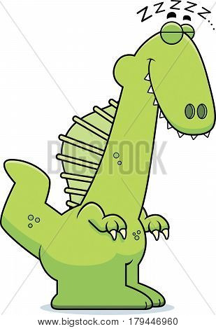 Sleeping Cartoon Spinosaurus