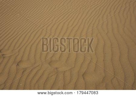 Sand On Prassonissi Beach At Rodos, Greece
