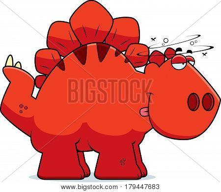 Drunk Cartoon Stegosaurus