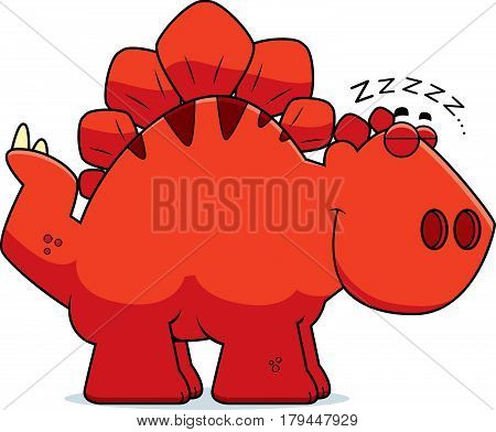 Sleeping Cartoon Stegosaurus