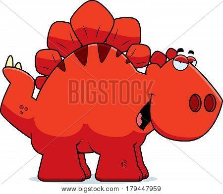 Sly Cartoon Stegosaurus
