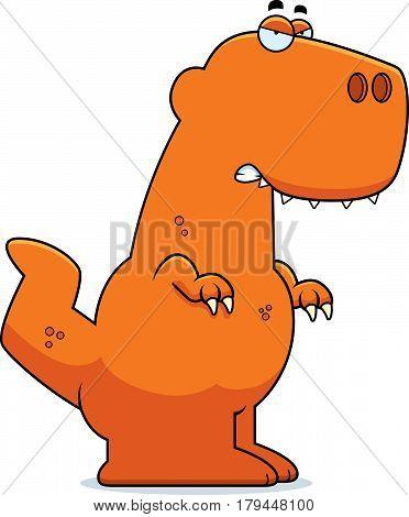 Angry Cartoon Tyrannosaurus Rex