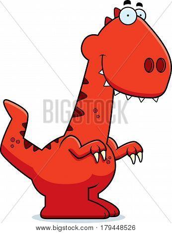 Smiling Cartoon Velociraptor