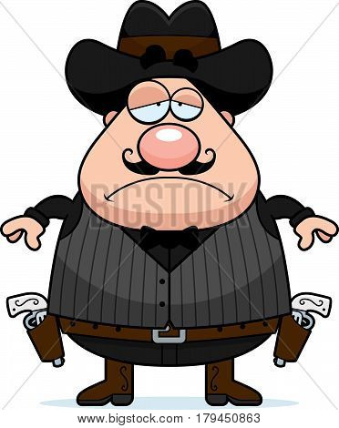 Sad Cartoon Gunfighter