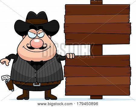 Cartoon Gunfighter Sign