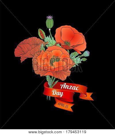Anzac Day. April 25.