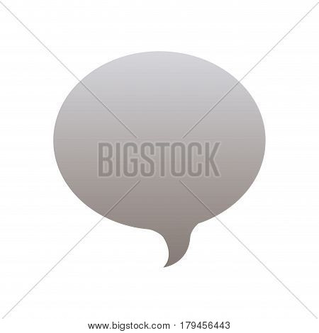 silhouette of oval speech in grayscale color vector illustration
