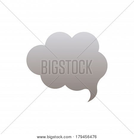 silhouette of cloud speech in grayscale color vector illustration