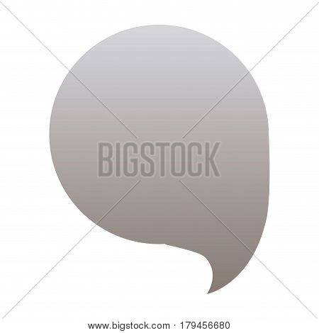silhouette of circular speech in grayscale color vector illustration