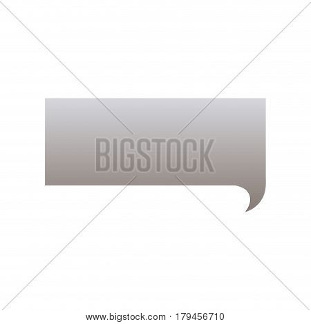 silhouette of rectangular speech in grayscale color vector illustration