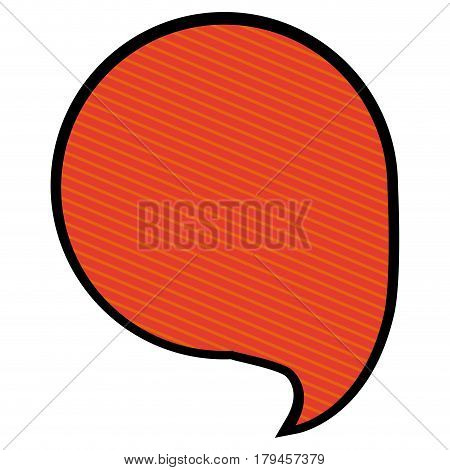 silhouette circular speech in orange background with diagonal lines vector illustration