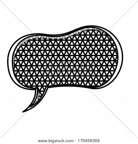 silhouette peanut speech shape and metal grid of background vector illustration