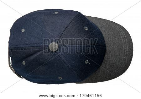 Cap Isolated On White Background. Cap With A Visor. Blue Cap