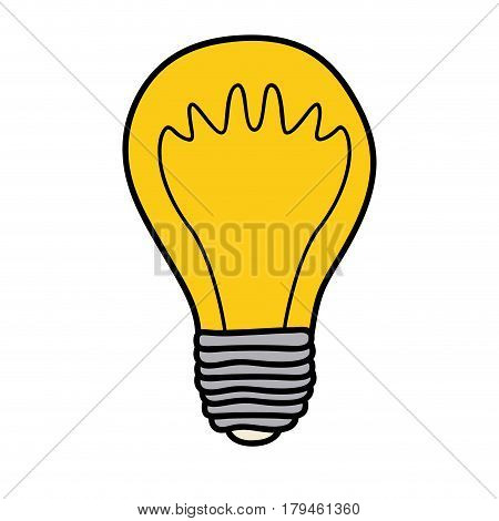 color background of light bulb with filament in shape of waves vector illustration