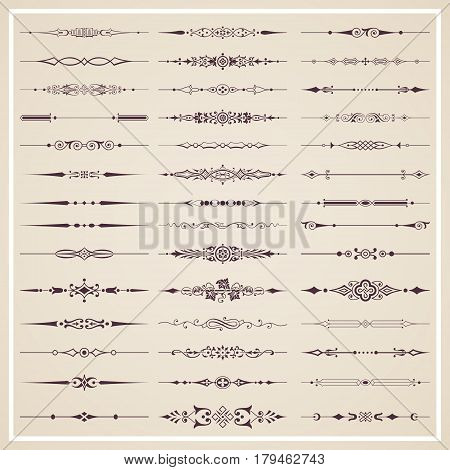 Decorative calligraphic dividers for design and page decoration - vector set