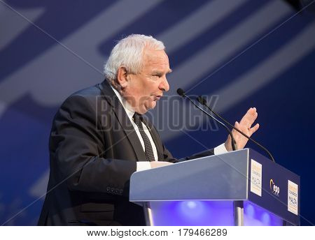 ST. JULIAN'S - MALTA 30 March 2017: President of the European People's Party Joseph Daul during the congress of EPP in Malta. Joseph Daul is a French politician and Member of the European Parliament